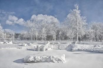 Lo spettacolo delle cascate del Niagara ghiacciate!