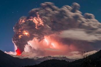 La natura dà spettacolo: il Vulcano e il Temporale!
