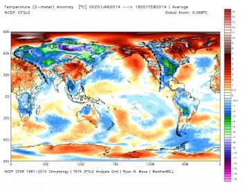Gennaio 2014: dove ha fatto più caldo?