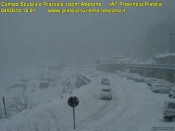 La prima vera nevicata da fine Novembre sull'Appennino.