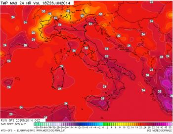 Estate 2014: Prosegue l'altalena termica,con i temporali,temperature di nuovo in calo.