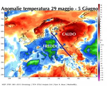Ultima settimana fredda in Europa, ma le massime sono già in risalita