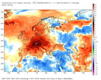 Ultima settimana rovente in Europa, conferma delle previsioni mensili