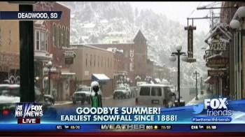 Neve settembrina negli States, la più precoce dal 1888 !