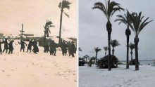 Prima neve sulle spiagge spagnole dopo quasi 90 anni [IMMAGINI]