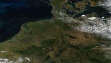 Siccità estrema nel centro Europa, visibile anche dallo spazio