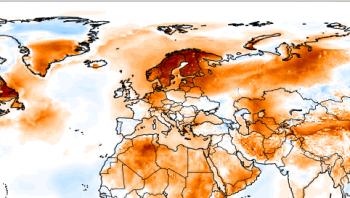 Caldo anomalo in Scandinavia : Temperature massime oltre i +30°C!
