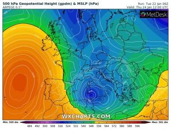 Ciclone Mediterraneo: venti di burrasca e mare mosso