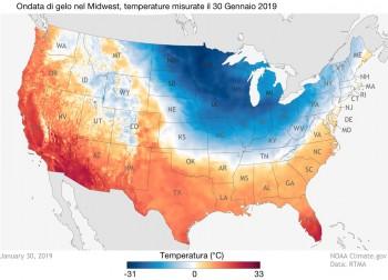 Fa sempre più caldo, anche quando fa estremamente freddo: l'esempio degli Stati Uniti