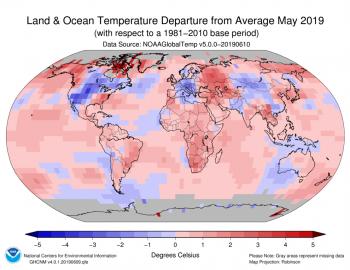 Maggio 2019 è il quarto più caldo di sempre su scala globale!