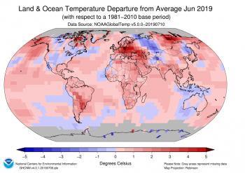 Giugno 2019 è stato il mese più caldo dall'inizio delle misurazioni