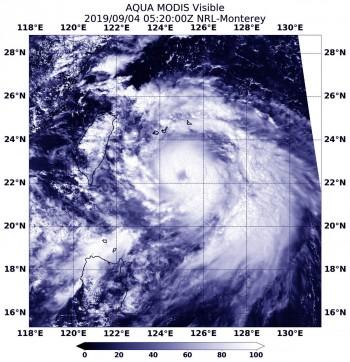 Nel Pacifico Occidentale il tifone Lingling si dirige verso la Corea