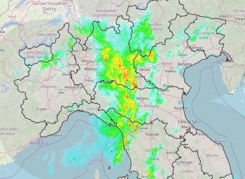 Pioggia sul Nord Italia: intensa linea temporalesca associata al fronte freddo