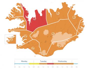 Ciclogenesi esplosiva in atto: attesi venti di tempesta e tormente di neve in Islanda