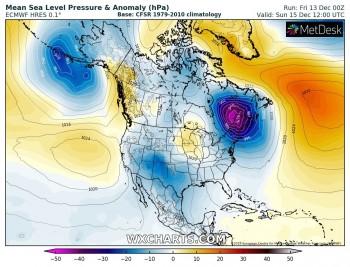 Ciclone esplosivo in formazione sulla costa orientale degli Stati Uniti