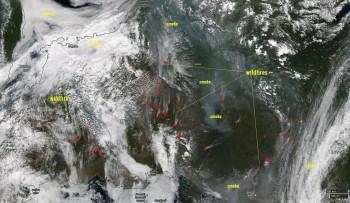 Ancora incendi devastanti in Siberia, la nube di fumo ha raggiunto gli USA