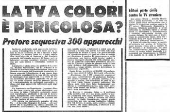 Polemiche per il 5G: accadde lo stesso con la TV a colori