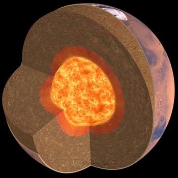 Rivelata per la prima volta la struttura interna di Marte