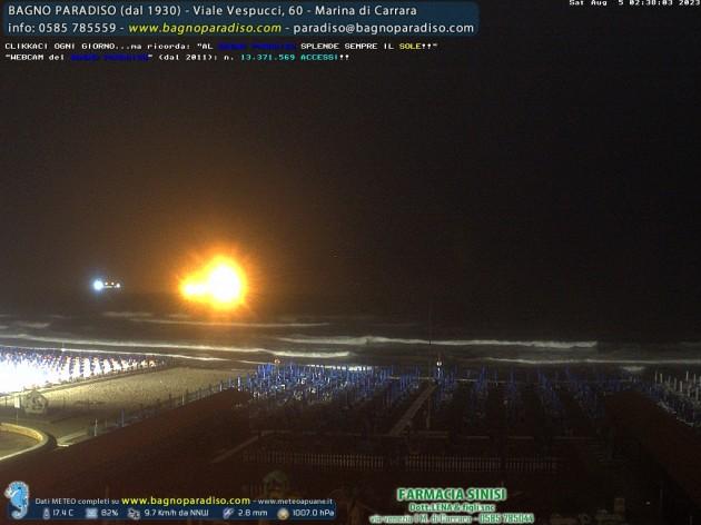 Webcam marina di carrara ms spiaggia del bagno paradiso meteo in diretta - Bagno paradiso marina di carrara ...