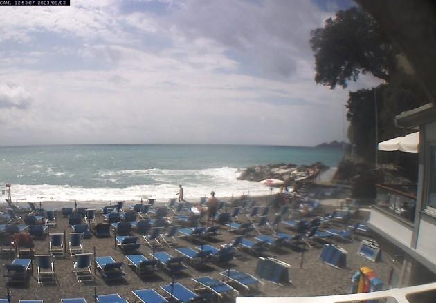 Webcam zoagli ge la spiaggia del bagno silvano meteo in diretta