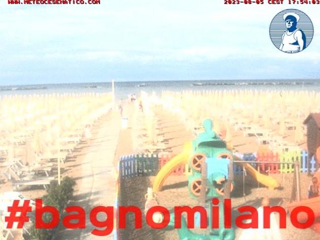 Webcam Cesenatico (FC) - Spiaggia del bagno milano | Meteo in Diretta