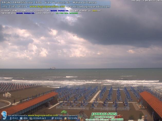 Webcam marina di carrara ms spiaggia bagno paradiso meteo in diretta - Bagno paradiso marina di carrara ...