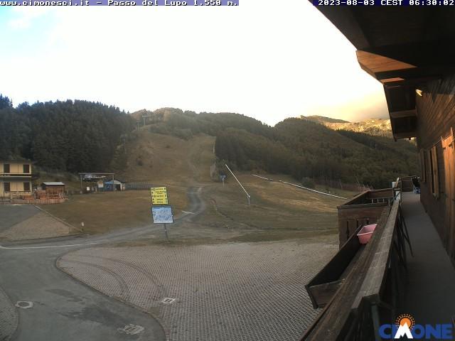 webcam Cimone, Passo del Lupo pista