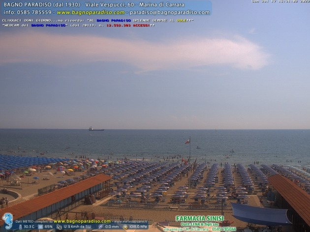 Webcam marina di carrara ms spiaggia del bagno - Webcam bagno paradiso ...