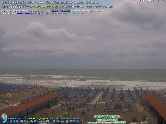 Webcam marina di carrara ms spiaggia bagno paradiso for Bagno unione marina di carrara
