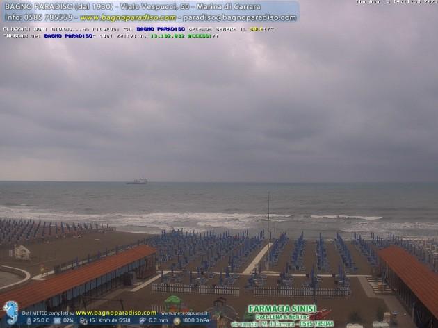 Webcam Marina Di Carrara Ms Spiaggia Bagno Paradiso