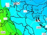 Temperatura Geopotenziale pressione al suolo a 500 hpa